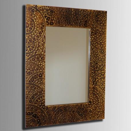Espejo artesanal hecho a mano modelo NAZCA