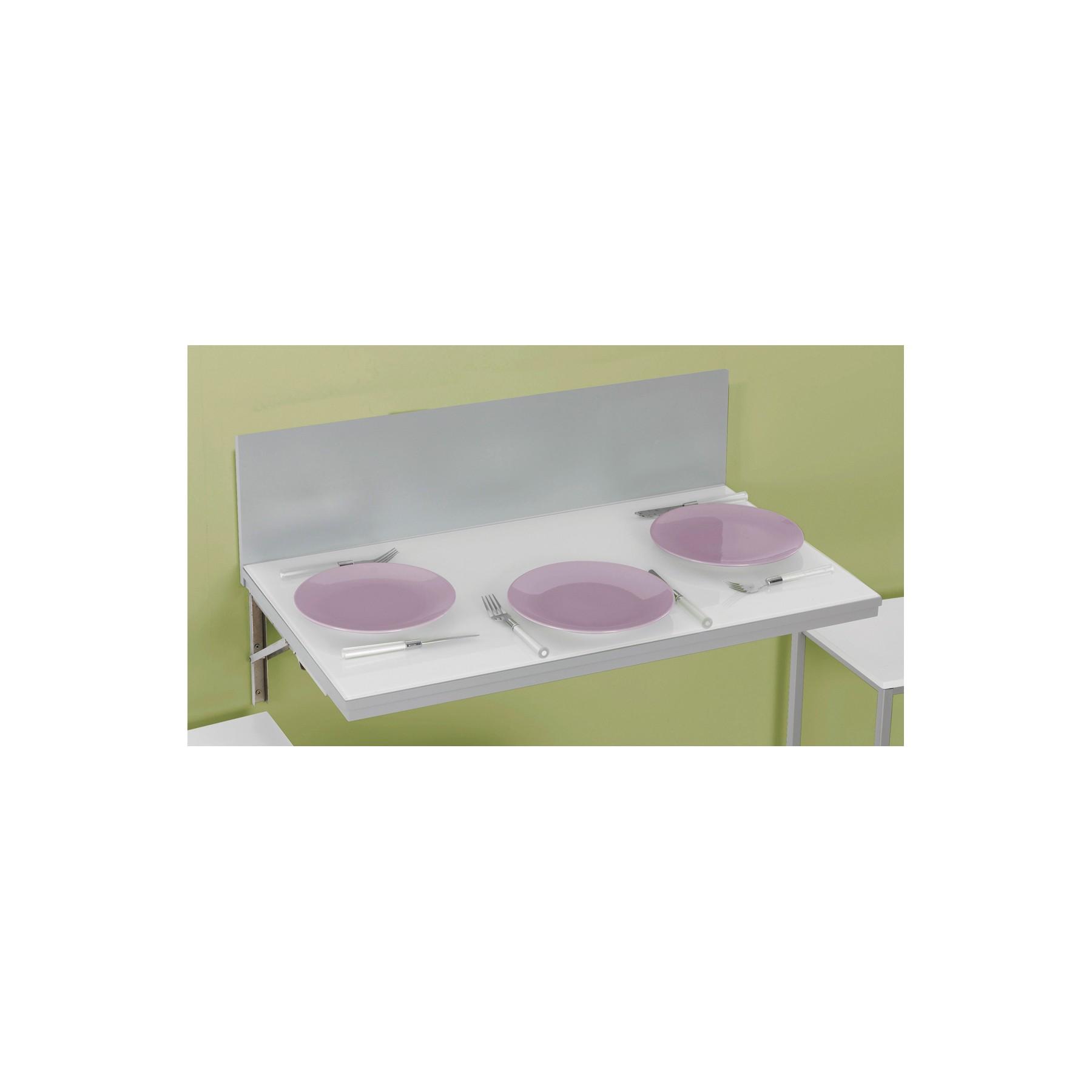 Conjunto de mesa de cocina de pared abatible y taburetes cocina Alpes