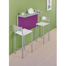 Conjunto de mesa de cocina de pared abatible y taburetes de cocina modelo Alpes
