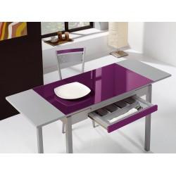 Mesa de cocina con alas extensibles modelo A