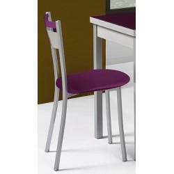Silla de cocina asiento polipiel modelo A