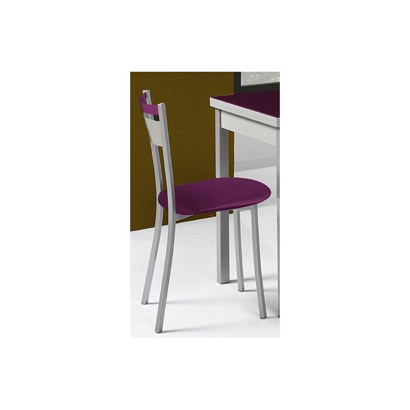 Silla de cocina asiento polipiel modelo a for Sillas cocina polipiel