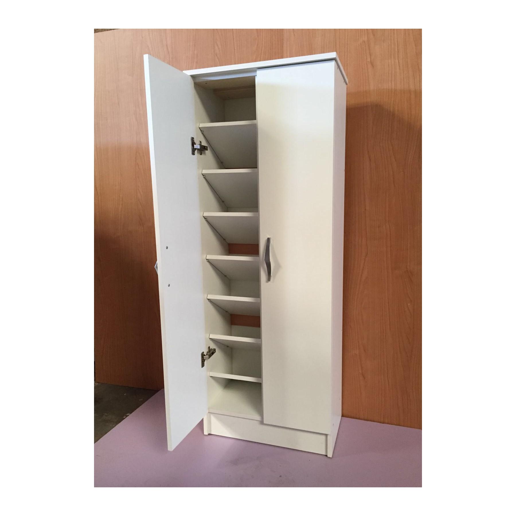 Mueble zapatero grande de dos puertas con gran almacenamiento - Como hacer puertas de armario ...