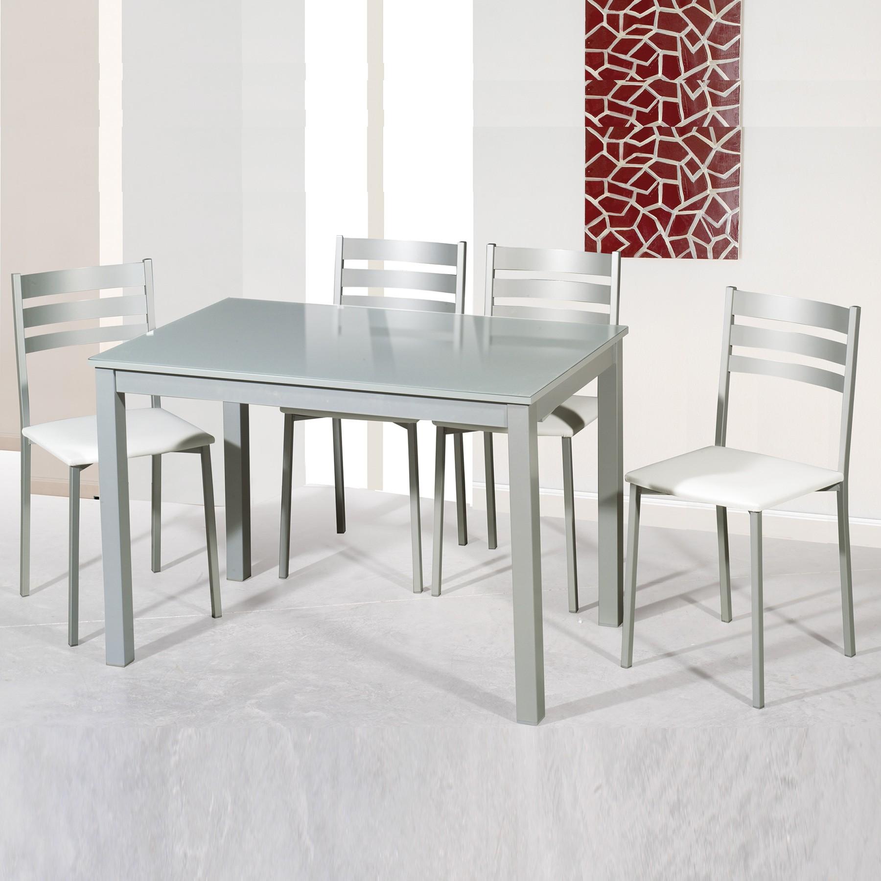 Conjunto de mesa y 2 ó 4 sillas de comedor modelo GREY