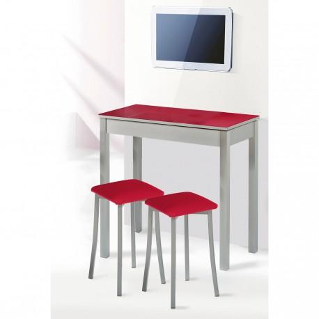 Mesa de cocina fija y taburetes modelo Liborno