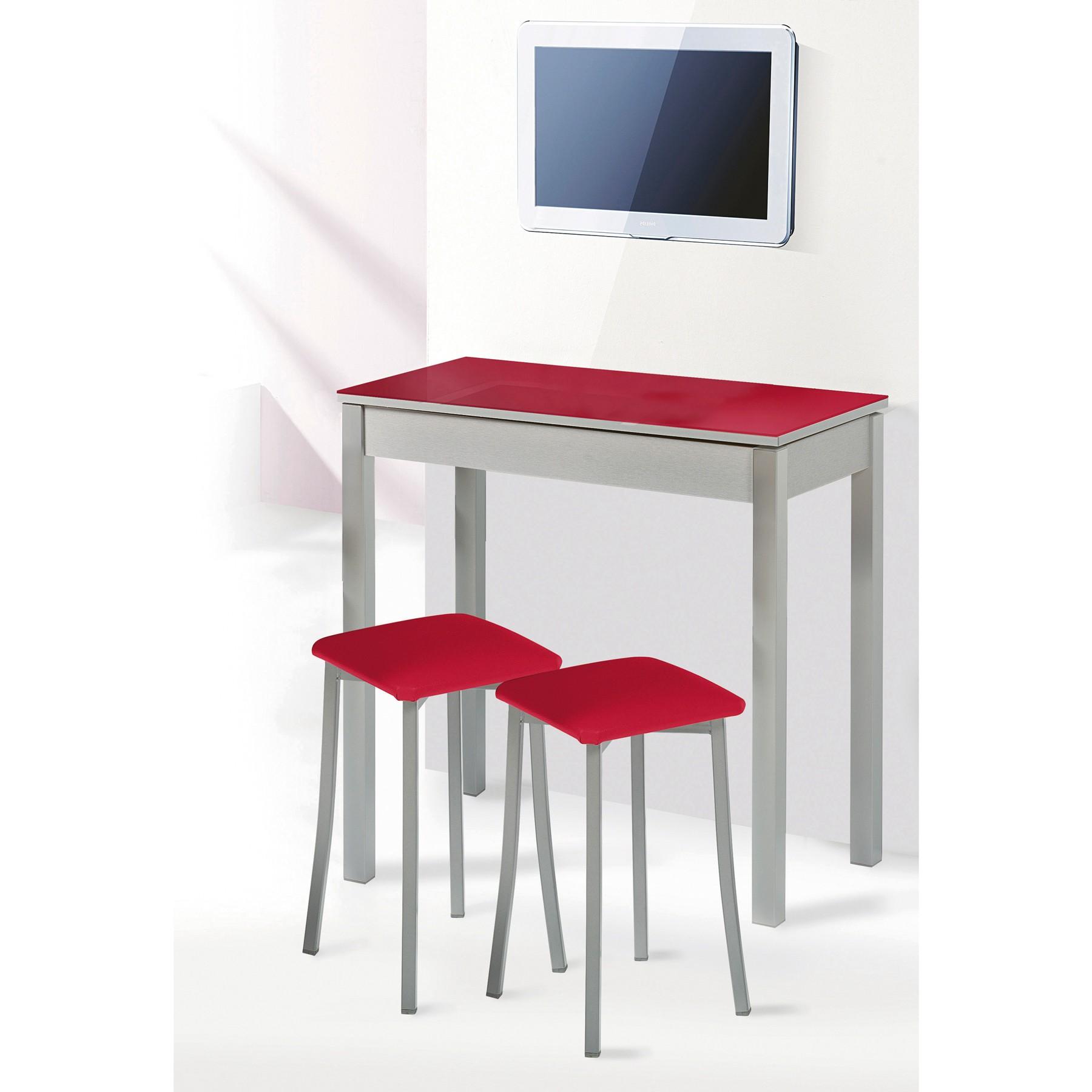 Mesa de cocina fija y taburetes modelo liborno espacios - Mesas de cocina plegables de pared ...