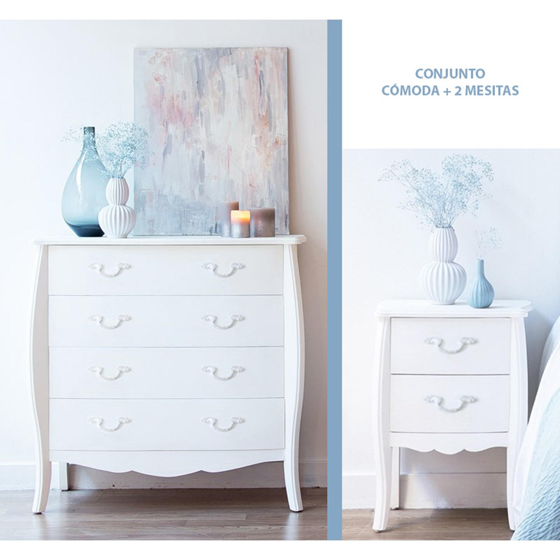 Conjunto c moda y mesitas modelo nube for Mesitas de noche blancas