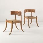 silla ergonómica de invención griega. Muebles.