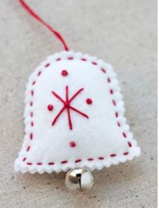 campana decorativa de fieltro. La navidad ya está aquí.