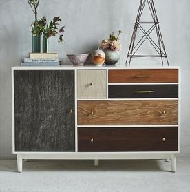 auxiliar vintage patchwork de dekogar.es Colores en los muebles
