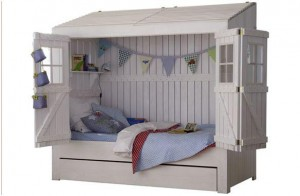 casa cama de madera blog dekogar.es Dormitorios infantiles de ensueño
