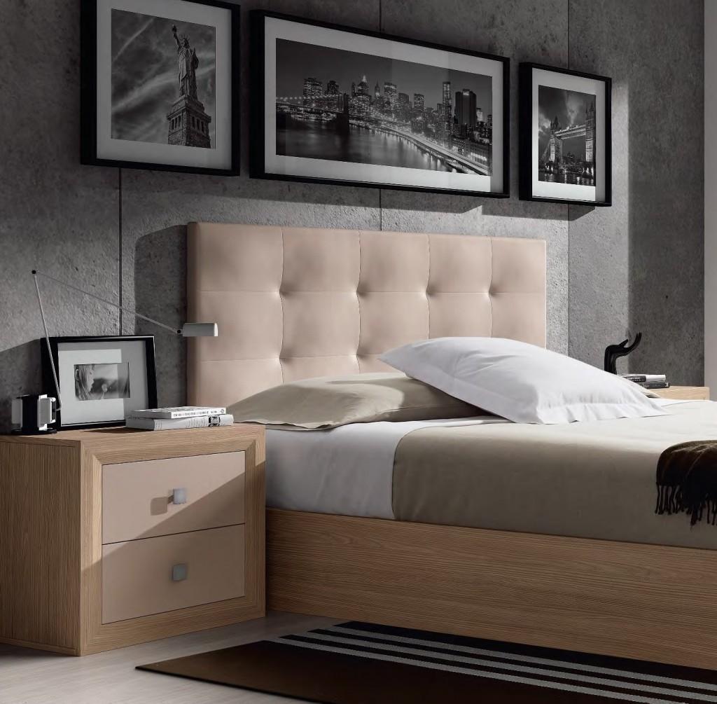Cabecero de cama tapizado capitoné Dekogar.es
