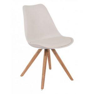 Muebles auxiliares: Silla con asiento en polipiel y patas de madera modelo Tower