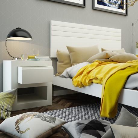 cabeceros y cabezales para camas-cabecero-lacado-lamas-horizontales