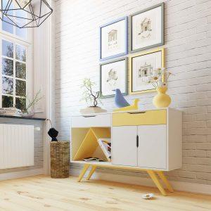 Estilos de muebles rústico y nórdico
