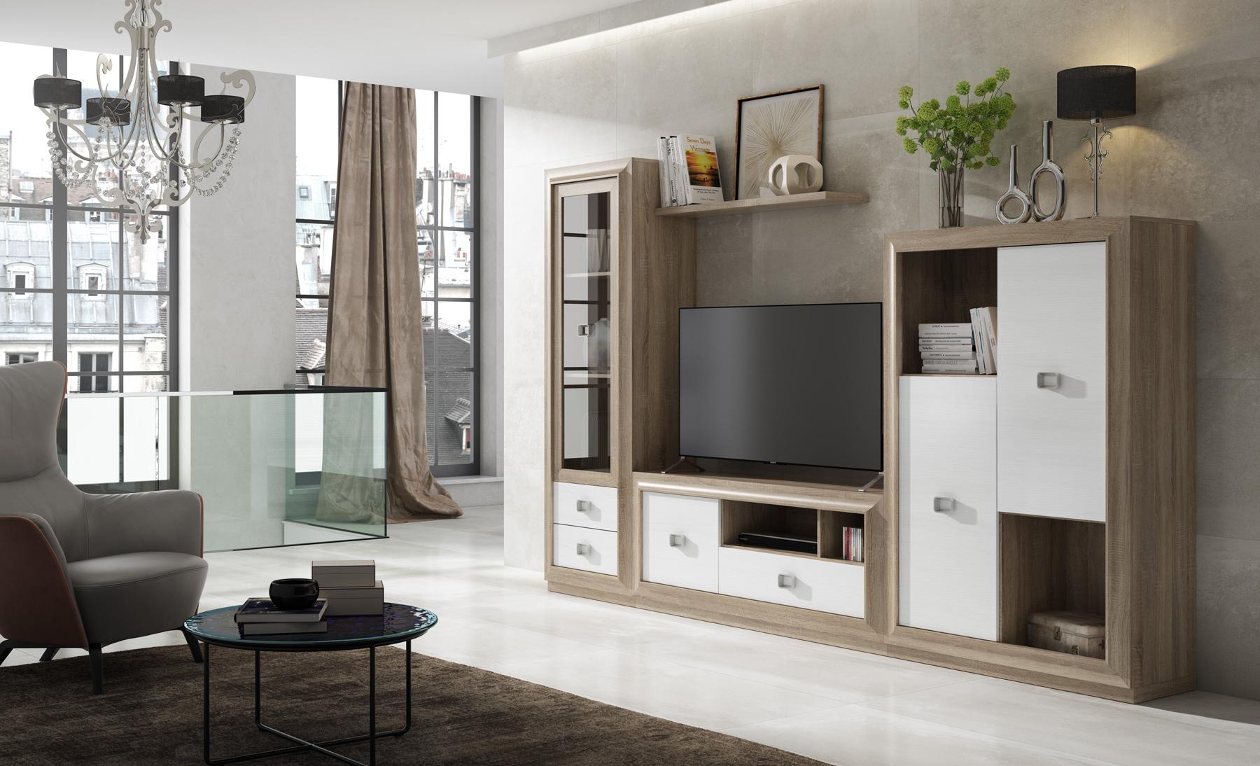 Conjunto de muebles de salón modulares
