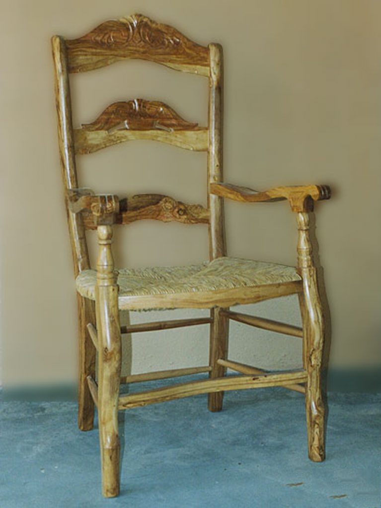 sillón madera
