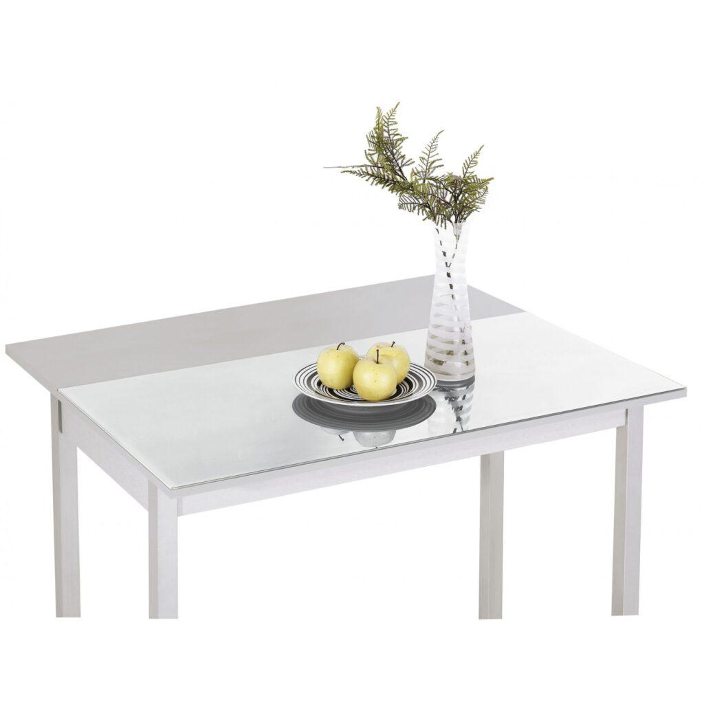 Mesa de cocina extensible apertura trasera.